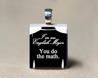 English Major Gift, College Student Gift, Graduation Gift, Grammar Jewelry, English Student Jewelry, You Do the Math