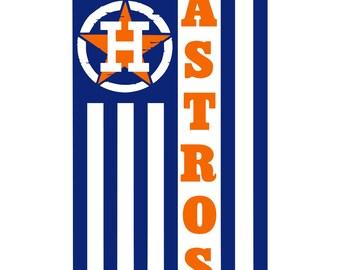 Digi-tizers Astros Logo Flag 2 SVG, Jpg, PDF cutting file, vinyl, HTV, Cricut, Cameo, Laser engraving, Plasma cutting, Vector