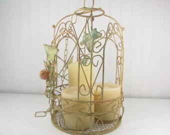 vintage birdcage metal birdcage wedding decor decorative bird cage cottage decor - Decorative Bird Cages
