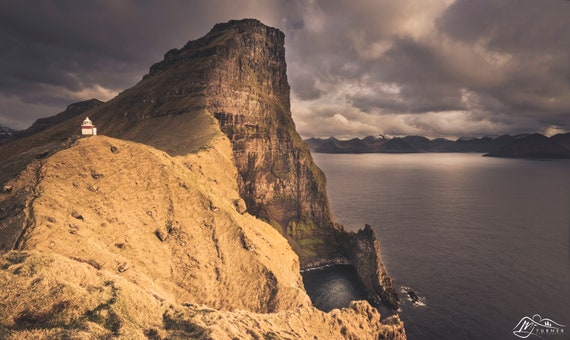 Borgarin above Kallur Lighthouse [Photographic Print]
