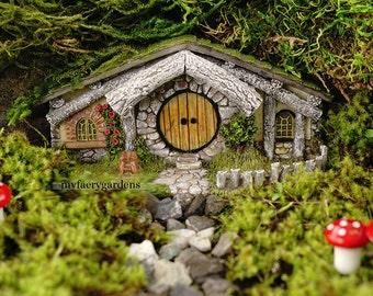 Miniature Dollhouse FAIRY GARDEN ~ Hobbit House New Spring Fairy Home