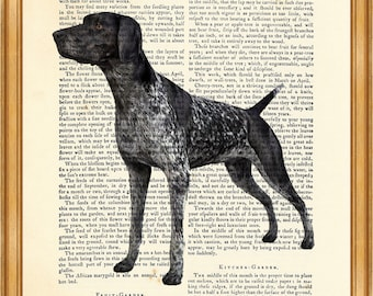 Pointer Dog Gifts, GERMAN SHORTHAIRED POINTER Dictionary Art Print gsp Dog Breeds Artwork Vintage Book Page Dog Poster