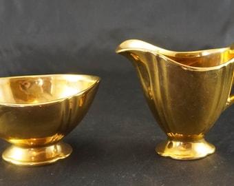Royal Winton Cream and Sugar GOLDEN WEDDING Pattern