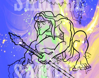 Tarzan hybrid drawing