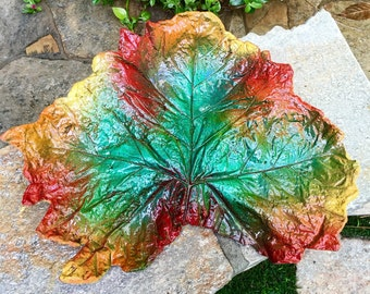 cement leaf, garden art sculpture, home decor, outdoor garden decoration  #1608