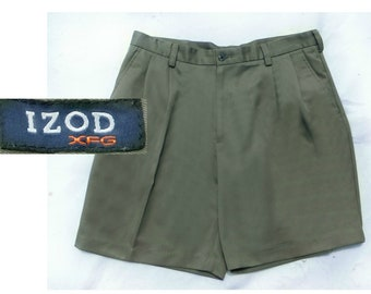 size -36 shorts men ,men's summer Shorts , Men's olive green shorts -  Men's Bermuda Shorts - IZOD shorts men - # 44