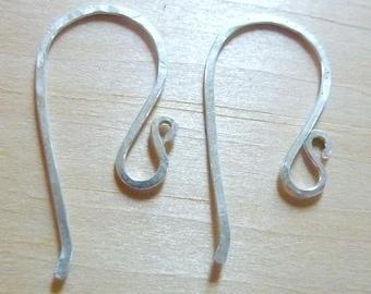 20 Gauge Hammmered Sterling Earwires - 5 pair