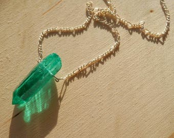 Green Natural Stone Necklace