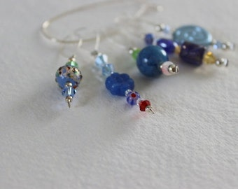 Luxury Beaded Stitch Markers – Blues