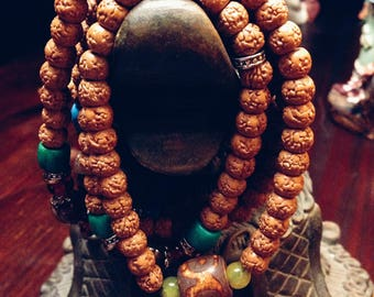Tibetan jewelry '108 prayer beads ' beads necklace '