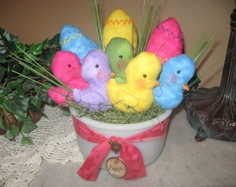 EPATTERN -- Peeps and Eggs Bowl Fillers Easter Gathering