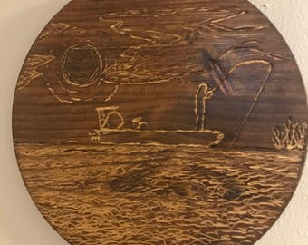 Florida wildlife and fishing carvings by hand