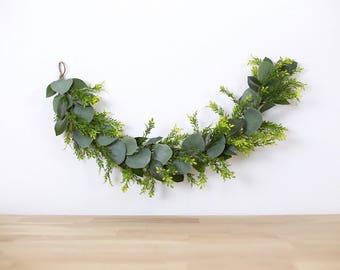 high chair garland, bohemian eucalyptus garland, wall hanging, wedding garland