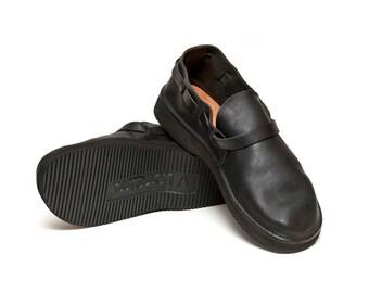 Men's BLACK Handmade Leather Shoes