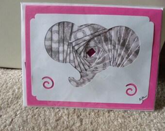 Elephant Iris Folded Card
