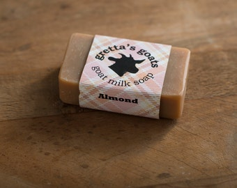 Almond Goat Milk Soap from Hand Milked Goats that Graze on Organically Managed Pasture