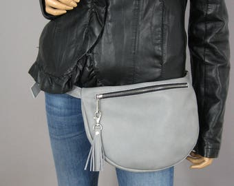 LEATHER LARGE FANNY pack, Fanny Pack, Fanny Pack Leather, Hip Bag, Leather Pouch, Belt bag, Fanny Pack, Waist Pack Perfect For Travel (no 1)