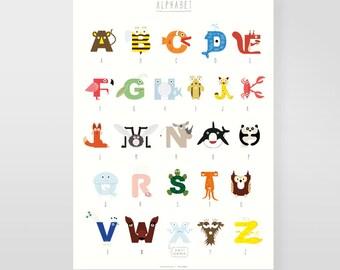 "A2 Children's poster ""Animal Alphabet"""