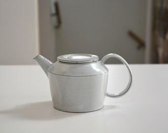 Kalonji deep milk white glazed teapot