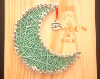 String Art Love You To The Moon And Back