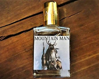 Mountain Man Cologne Oil 1/2 oz. Wilderness Cologne, Forest Cologne, Outdoorsman Cologne, Woodsy Cologne, Fresh Forest Cologne, Cologne Gift