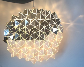 Two-toned Geodesic Sculptural Pendant Lampshade