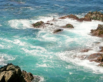 The beautiful teal waters of Carmel Bay