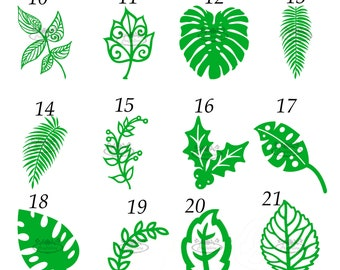 One dozen of Pre Cut Leaves, Stems, Vines, Paper Flower Leaves, Leaf