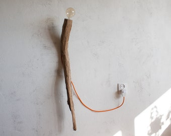wall lamp / wooden handmade wall light / wall lighting