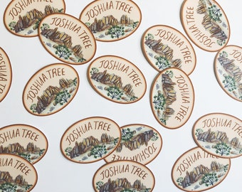 Joshua Tree Oval Sticker
