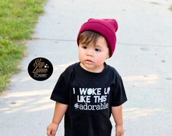 Woke Up Like This Embroidered Shirt or Bodysuit Toddler & Baby Sizes