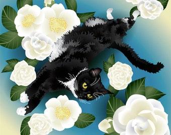 "Custom Cat Portrait - Full body - 8""x8"" Print"