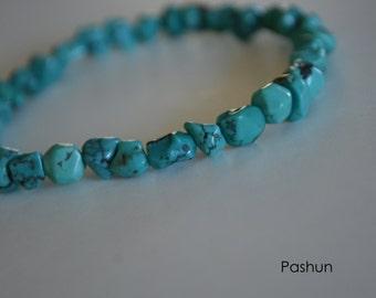 Yoga Stretch Bracelets ... Turquoise Nuggets (1376)