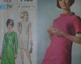 Vintage 1967 Simplicity Dress Pattern 7193