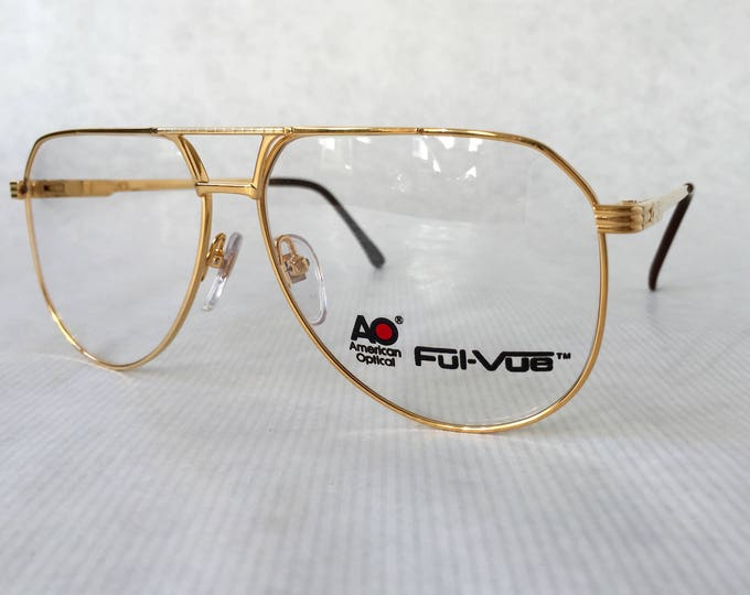 20Kt Gold Plated American Optical Ful-Vue 9302 Vintage Eyeglasses NOS Made in the USA