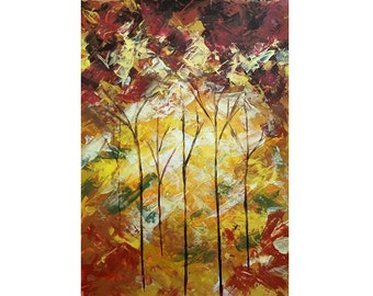 Forest 1 - acrylic painting. Free delivery.