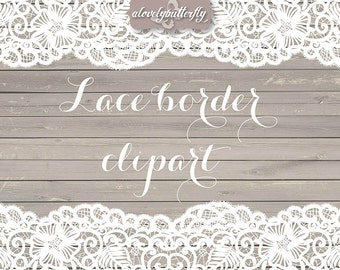 VECTOR Wedding clipart lace border, rustic clipart, shabby chic wedding, lace clipart, lace border, bridal shower, INSTANT DOWNLOAD