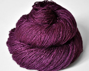 Burning fuchsia - Tussah Silk Lace Yarn