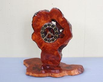 Vintage Rustic Log Slice Clock
