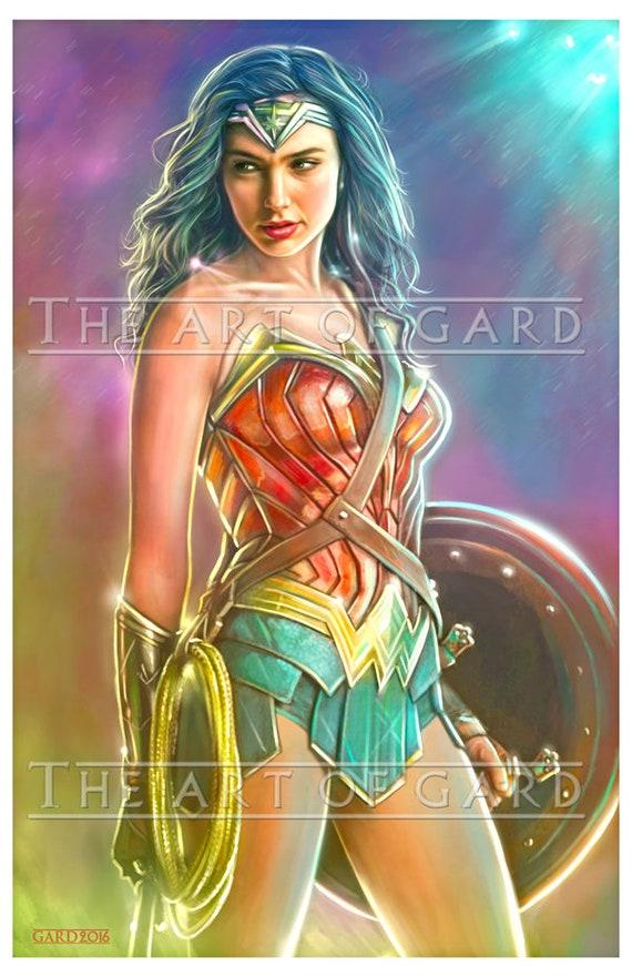 Wonder Woman (Gal Gadot) Art Print