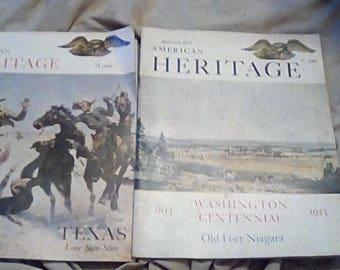 American Heritage Magazines Two Piece Set