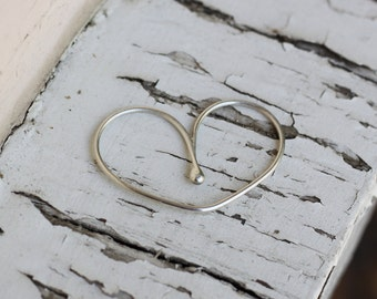 Silver Double Finger Ring, Sterling Silver Double Ring, Two Finger Ring, Heart Double Ring, Double Ring, Silver 2 finger Ring, Silver Ring