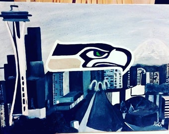 Made to order Seattle Seahawks painting