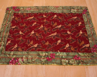 Placemats (4) --Birds Singing In The Holly--Includes Shipping
