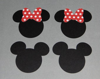 16 Minnie Mouse and Mickey Cut Outs • Mickey Party Decoration