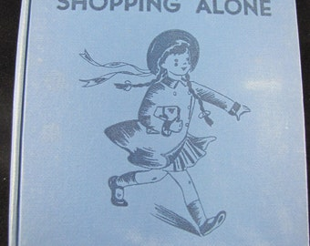 Sally Goes Shopping Alone // Vintage children's book // 1940