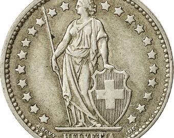 switzerland franc 1957 bern ef(40-45) silver km24