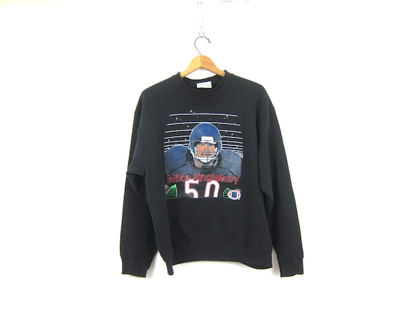 Chicago Bears Sweatshirt Black Vintage Mike Singeltary Sweater Illinois Sports NFL Football sweatshirt size Medium Large