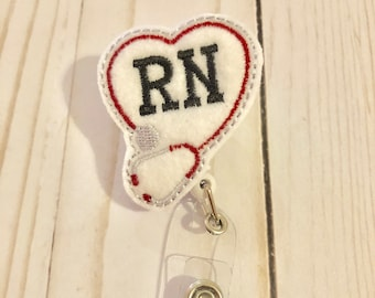 RN badge holder, badges