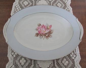 Noritake Nippon Toki Kaisha Pink Rose Small Serving Platter/N2803 #17188